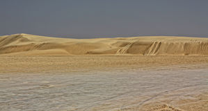 Sahara-WüstenSanddünen Stockfotos