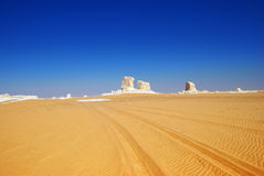 Sahara, the White desert, Egypt Stock Photo
