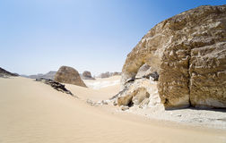 Sahara, white desert Royalty Free Stock Photography