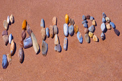 Sahara written on beach Royalty Free Stock Photos