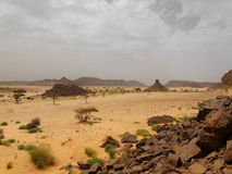 Saharan eroded mountains Royalty Free Stock Photo
