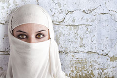Saharawi women with white dress Royalty Free Stock Photo
