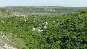 Saharna kloster i 4K Moldavien stock video