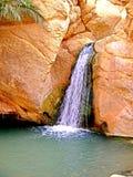 Sahary oazy Chebika siklawa, Afryka, Tunezja Zdjęcie Stock