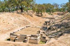 Sahasralinga Talav, a medieval artificial water tank in Patan - Gujarat, India Stock Photos