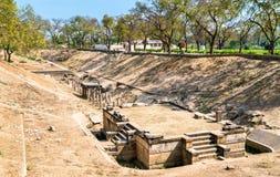 Sahasralinga Talav, a medieval artificial water tank in Patan - Gujarat, India Royalty Free Stock Photo