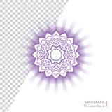 Sahasrara Το διανυσματικό εικονίδιο Chakra κορωνών Στοκ Εικόνα