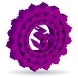 紫色Sahasrara chakra 免版税库存图片