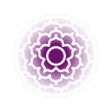 Sahasrara chakra icon Royalty Free Stock Photography