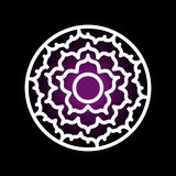 Sahasrara chakra ikona Obraz Royalty Free