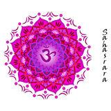 Sahasrara chakra. Lotus flower of Sahasrara chakra Royalty Free Stock Photography