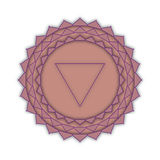Sahasrara - the crown chakra. The symbol of the seventh chakra. Stock Image