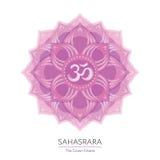 Sahasrara - el chakra de la corona del cuerpo humano Imagen de archivo libre de regalías