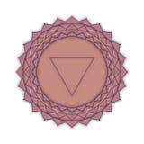 Sahasrara - el chakra de la corona El símbolo del séptimo chakra Imagen de archivo