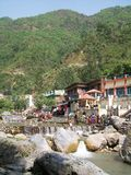 Sahasrdhara是一个多小山斑点在Dehra Dun Uttarakhand 库存图片