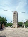 Sahat Kula The Clock Tower 17th century historic building Old Tu. Rkish Town Stara Varos Podgorica Montenegro Stock Images