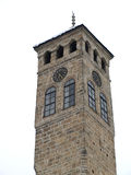 Sahat kula (Clock tower). Watch tower detail in Sarajevo, the capital city of Bosnia and Herzegovina Stock Image