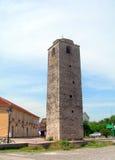 Sahat Kula il turco anziano della costruzione del XVII secolo della torre di orologio a Fotografie Stock Libere da Diritti