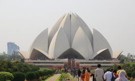 Sahba's Lotus Temple in India Stock Photography