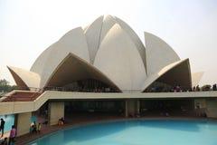 Sahbas Lotus Temple i Indien Royaltyfri Foto
