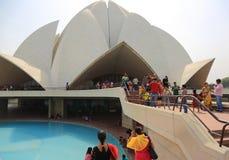 Sahbas Lotus Temple i Indien Fotografering för Bildbyråer