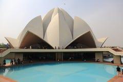 Sahbas Lotus Temple i Indien Arkivfoto