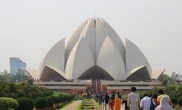 Sahbas Lotus Temple i Indien Arkivbild