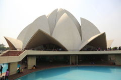 Sahbas Lotus Temple in Indien Lizenzfreies Stockfoto