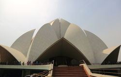 Sahbas Lotus Temple in Indien Lizenzfreies Stockbild