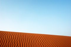 The sahel desert. Under the blue sky Royalty Free Stock Photo