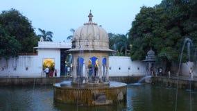 Saheliyon Ki Бари в Udaipur на Night-4 Стоковое Изображение RF