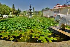 Saheliyon Ki Bari garden. Udaipur. Rajasthan. India Royalty Free Stock Photography
