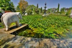 Saheliyon Ki Bari garden. Udaipur. Rajasthan. India Royalty Free Stock Images