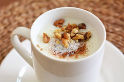 Sahlab Salep drink Royalty Free Stock Photos