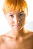 Sahne auf Gesicht stockbilder
