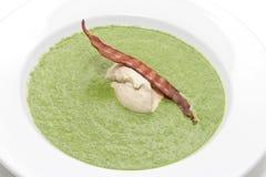 Sahne mit Spinat Stockbild