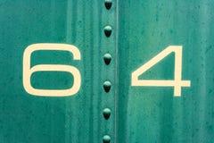 64 Sahne und grüne alte Metallhintergrundbeschaffenheit Lizenzfreies Stockfoto