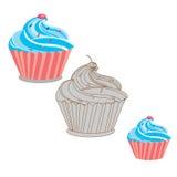 Sahnen Sie Kuchen stock abbildung