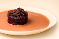 Sahneschokoladen-Kuchen lizenzfreies stockbild