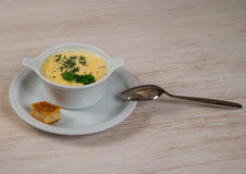 Sahnesuppe Stockfotos