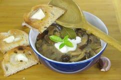 Sahnesuppe mit Boletus Lizenzfreies Stockfoto
