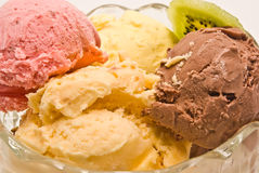 Sahnige Eiscreme Lizenzfreie Stockbilder