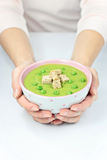 Sahnige Erbsen-Suppe Lizenzfreies Stockfoto
