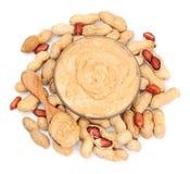 Sahnige Erdnussbutter lizenzfreie stockbilder