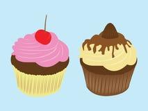 Sahnige Illustration des kleinen Kuchens der süßen Lebensmittelschokolade Lizenzfreie Stockbilder
