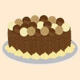 Sahnige Kuchenillustration der Schokolade Lizenzfreies Stockbild