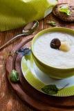 Sahnige Suppe des Brokkolis Lizenzfreie Stockbilder