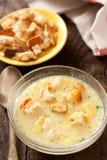 Sahnige Suppe des Huhns Lizenzfreie Stockbilder