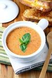 Sahnige Tomate-Suppe Stockfotografie