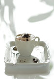 Sahniger Kaffee Stockfotografie